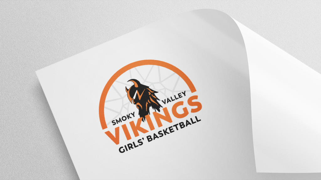 Smoky Valley Girls' Basketball Logo Mockup